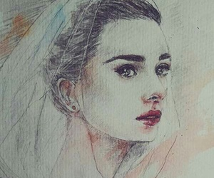watercolor, audreyhepburn, and funnyface image