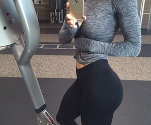 booty, brunette, and workout image