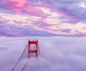 sky, clouds, and bridge image
