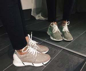shoes, sneakers, and glitter image