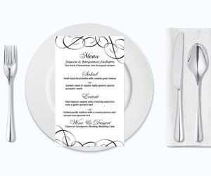 etsy, wedding template, and wedding menu card image