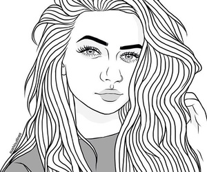 b&w and outline image