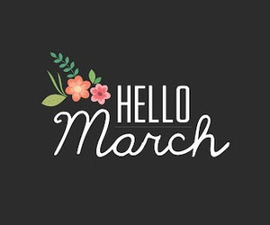 march, flowers, and hello image