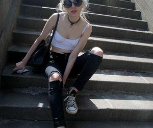 grunge, girl, and fashion image