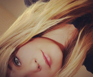 blonde, eyes, and happy image