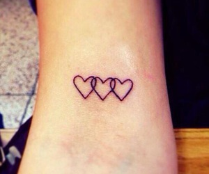 tattoo, hearts, and heart image