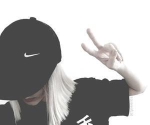 nike, girl, and black image