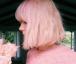 colored hair, girly, and pastel hair image