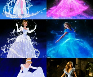 cinderella, blue, and Collage image
