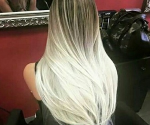 hair, white, and ombre image