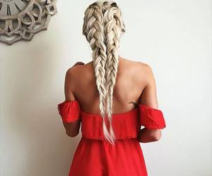 braid, girl, and woman image