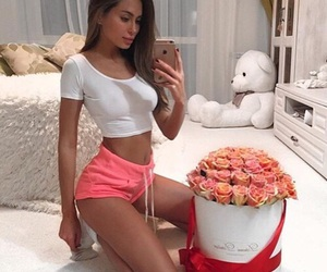 body, flowers, and teddy image