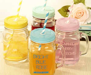 drink, jar, and mason jar image