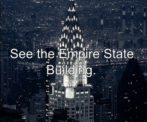 empire state building, new york, and travel image