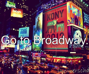 broadway, new york, and travel image
