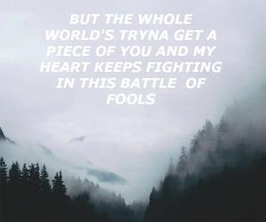 Lyrics, nature, and quote image