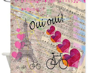 eiffel tower, pink bathroom, and gift for her image