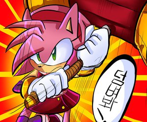 Sonic the hedgehog and amy rose image