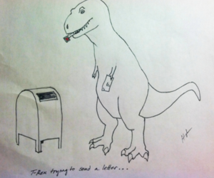 drawing, funny, and REX image