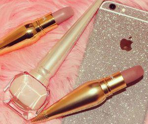 lipstick, fashion, and makeup image