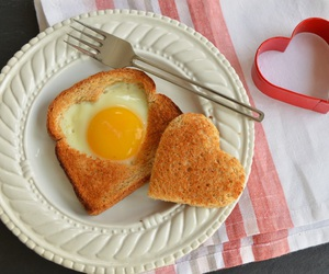 breakfast, egg, and heart image