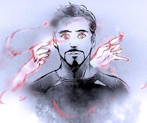 Marvel, tony stark, and wanda maximoff image