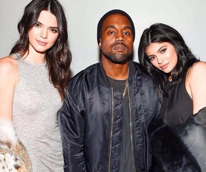 kendall jenner, kylie jenner, and kanye west image