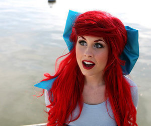 girl, ariel, and hair image