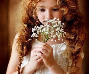 flowers, girl, and ginger image