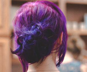 alternative, purple hair, and updo image