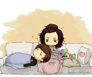 larry stylinson, larry, and louis tomlinson image