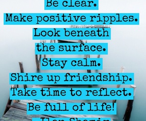 advice, calm, and clear image