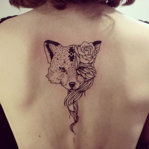 back, tattoo, and wolf image