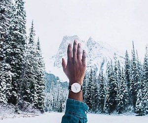 snow, winter, and watch image