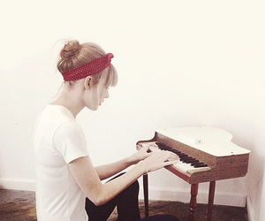 Taylor Swift, piano, and red image