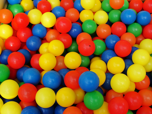 ball pit, balls, and birthday party image