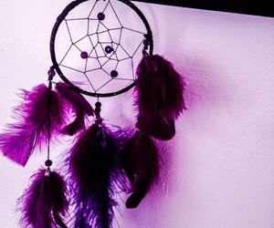 beautiful, dream catcher, and purple image