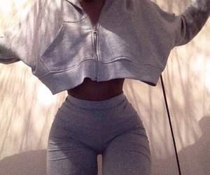 body, outfit, and goals image