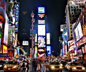 city, times square, and Dream image