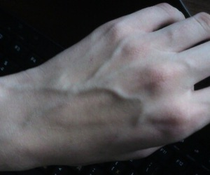 pale, veins, and grunge image
