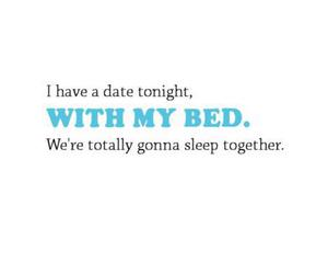 bed, date, and sleep image