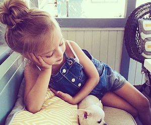 cute, girl, and dog image