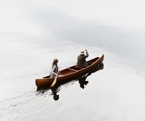 boat, couple, and peace image