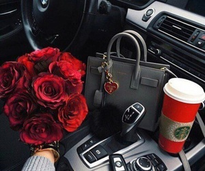 rose, car, and luxury image