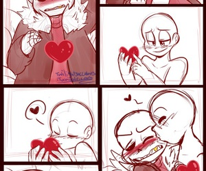 underfell and sans x you image