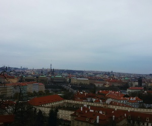 city, clouds, and prague image