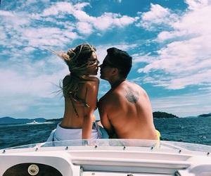 beach, beautiful, and kiss image