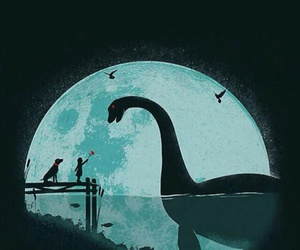 monster, moon, and art image