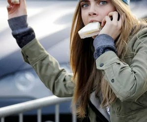 cara delevingne, model, and food image