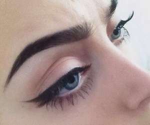 girl, eyebrows, and eyeliner image